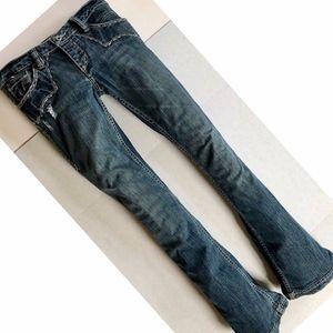 ANTIK BATIK Denim Distressed Bootcut Low-Rise Jean